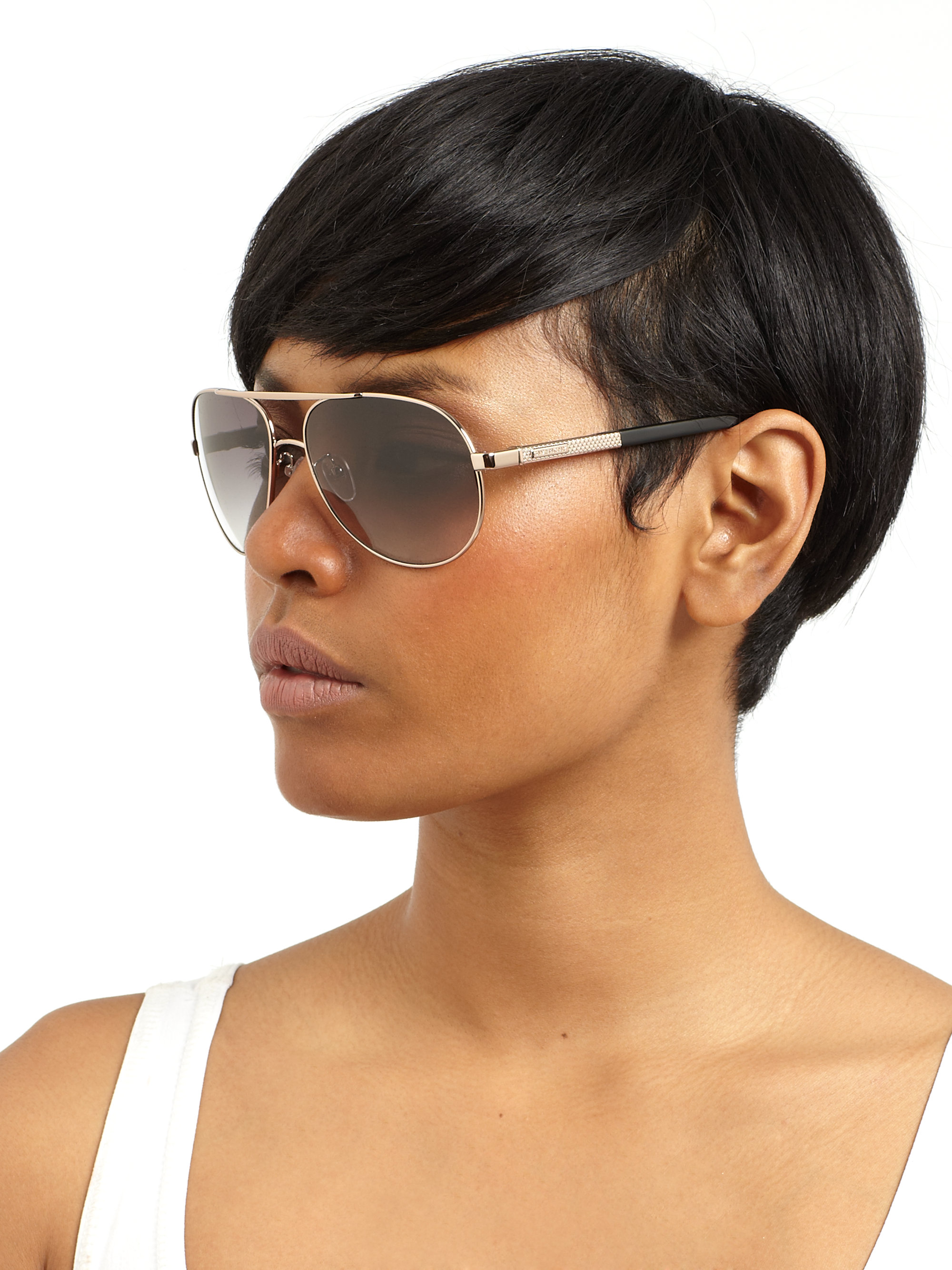 5795ce81a8d Lyst - Givenchy Metal Aviator Sunglasses in Blue
