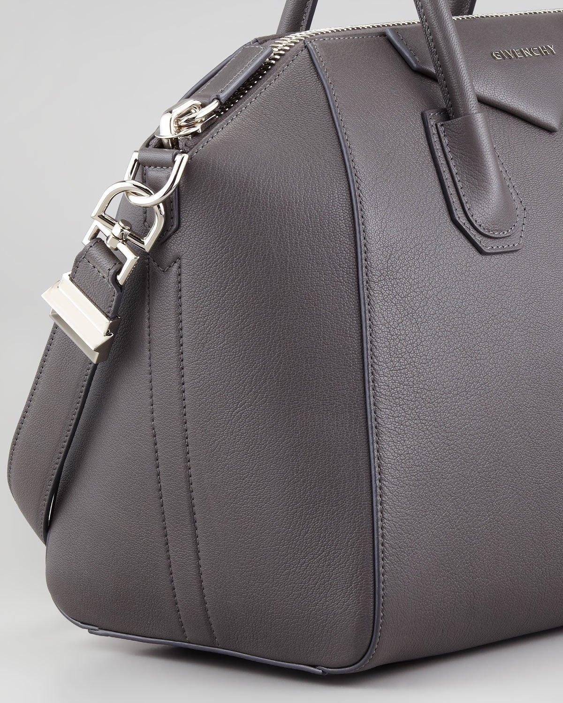 Givenchy Antigona Medium Sugar Goatskin Satchel Bag Gray in Gray  101f45f52bca1