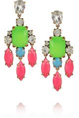 J.Crew Collage Crystal Drop Earrings - Lyst
