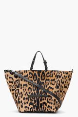 Jérôme Dreyfuss Tan Leopard Print Calfhair Jacques Shopping Bag - Lyst