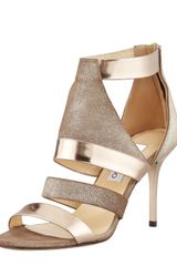 Jimmy Choo Berlin Metallic Sandal Light Bronze - Lyst