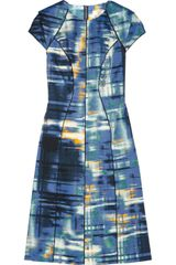 Lela Rose Printed Cottonblend Dress - Lyst