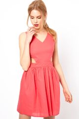 Love Skater Dress with Cut Out Detail - Lyst