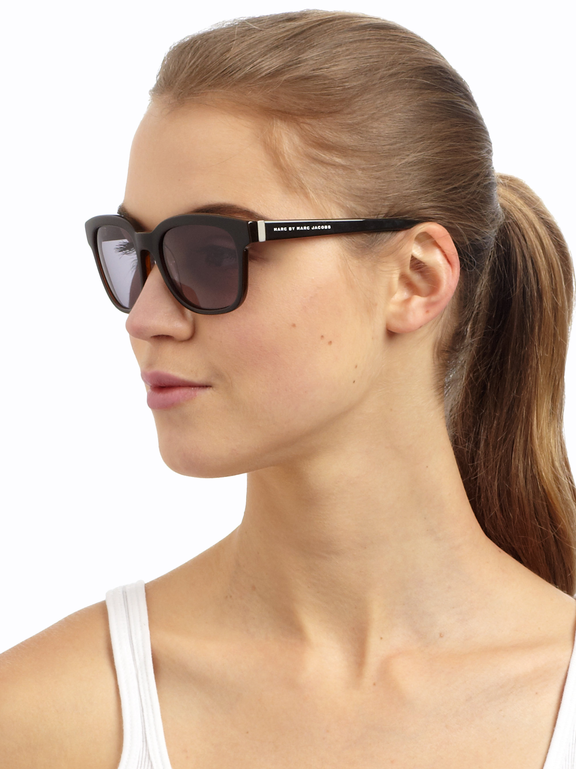 Marc By Marc Jacobs Cat Eye Sunglasses  marc by marc jacobs square acetate sunglasses in black lyst