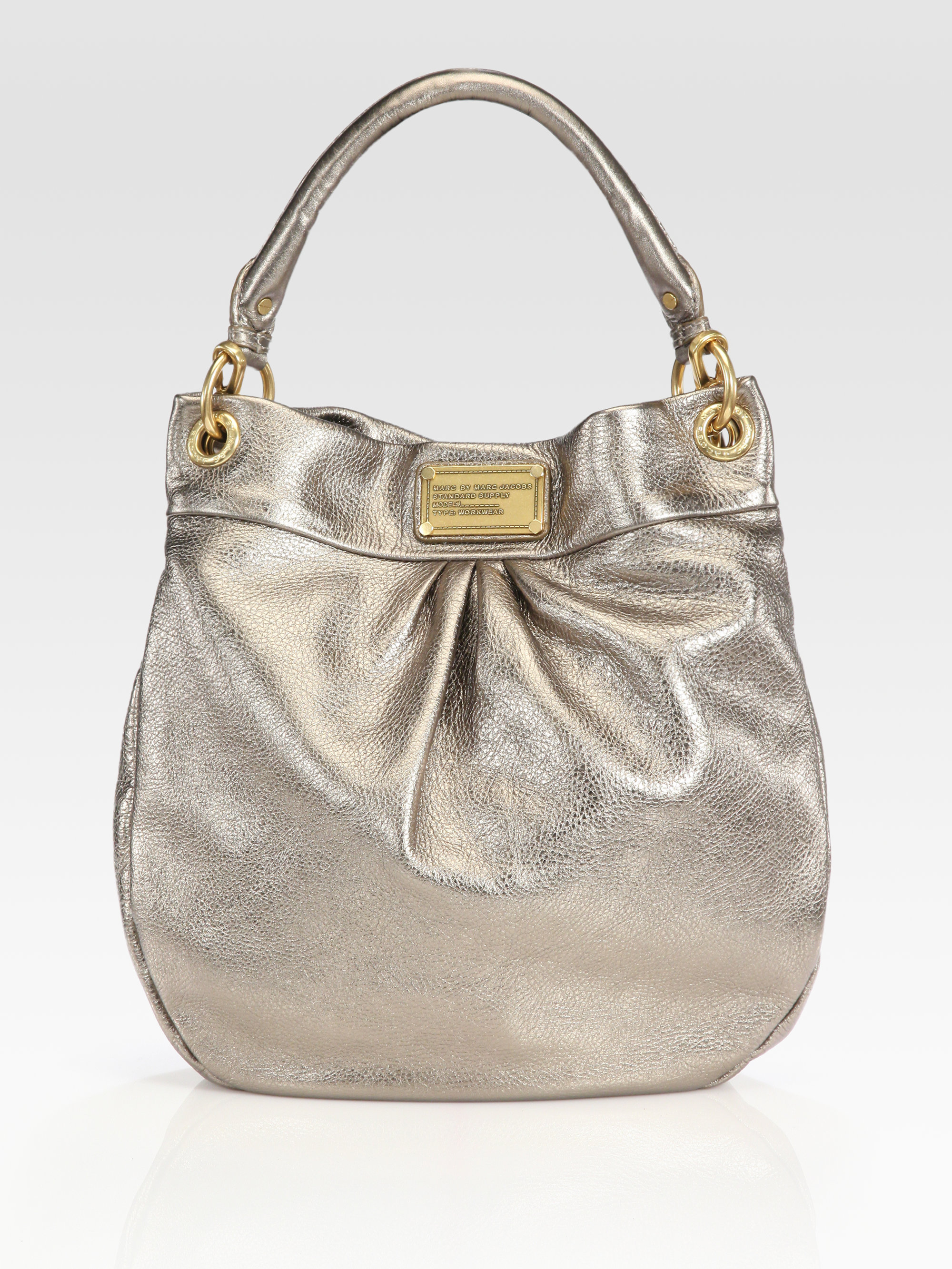 a131ac34d13 Marc By Marc Jacobs Classic Q Metallic Leather Hillier Hobo Bag in ...
