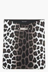 Marc Jacobs Brown Leopard Spot Leather Ipad Sleeve - Lyst