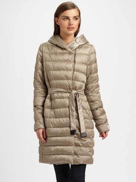 Max Mara Novef Cube Puffer Coat In Beige Light Lyst
