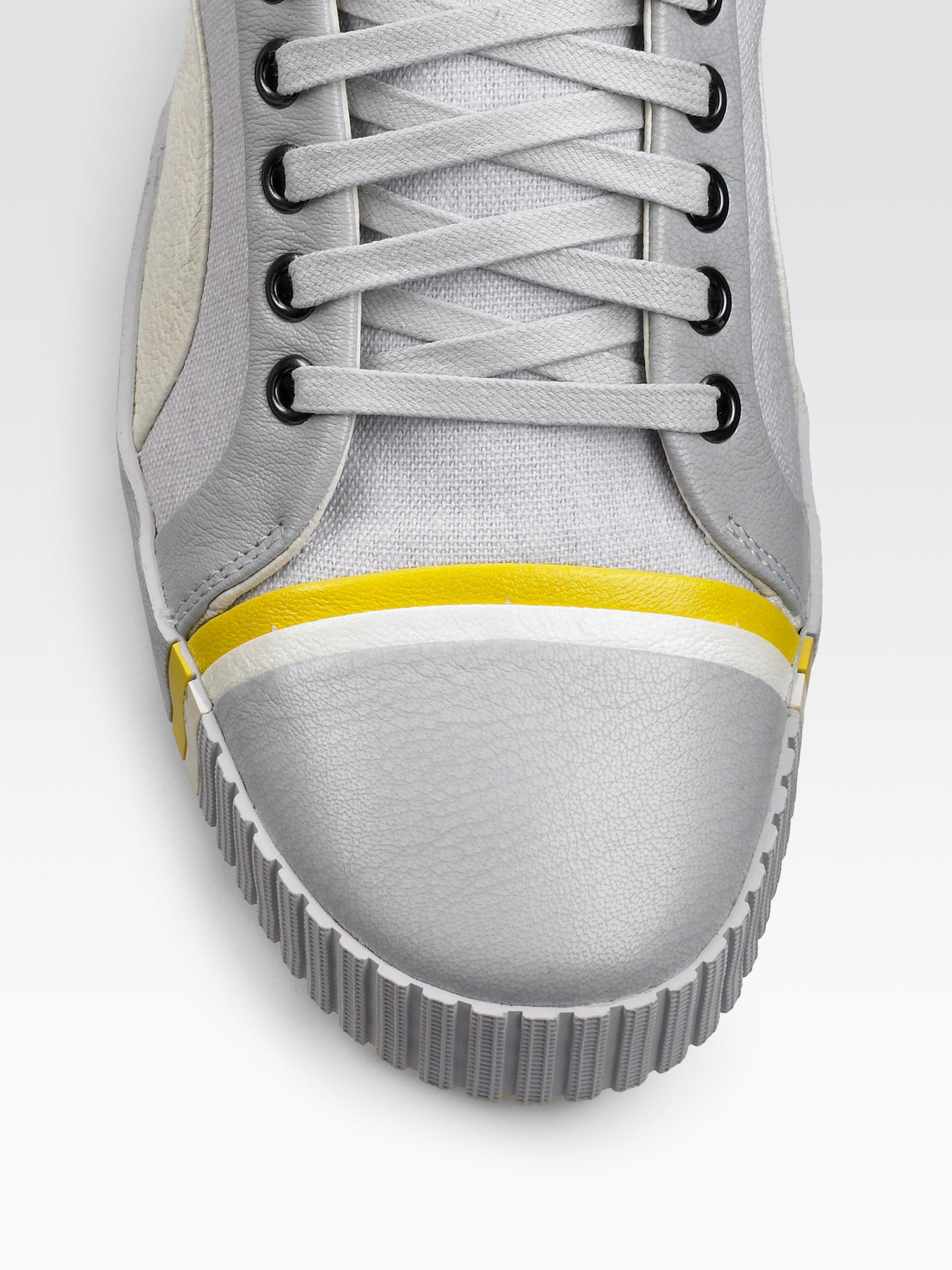 online store 43c03 e8fce Alexander McQueen X Puma Scarred Street Midtop Sneakers in Gray for ...