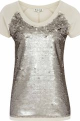 Reiss Dallas Sequin Front Jersey - Lyst