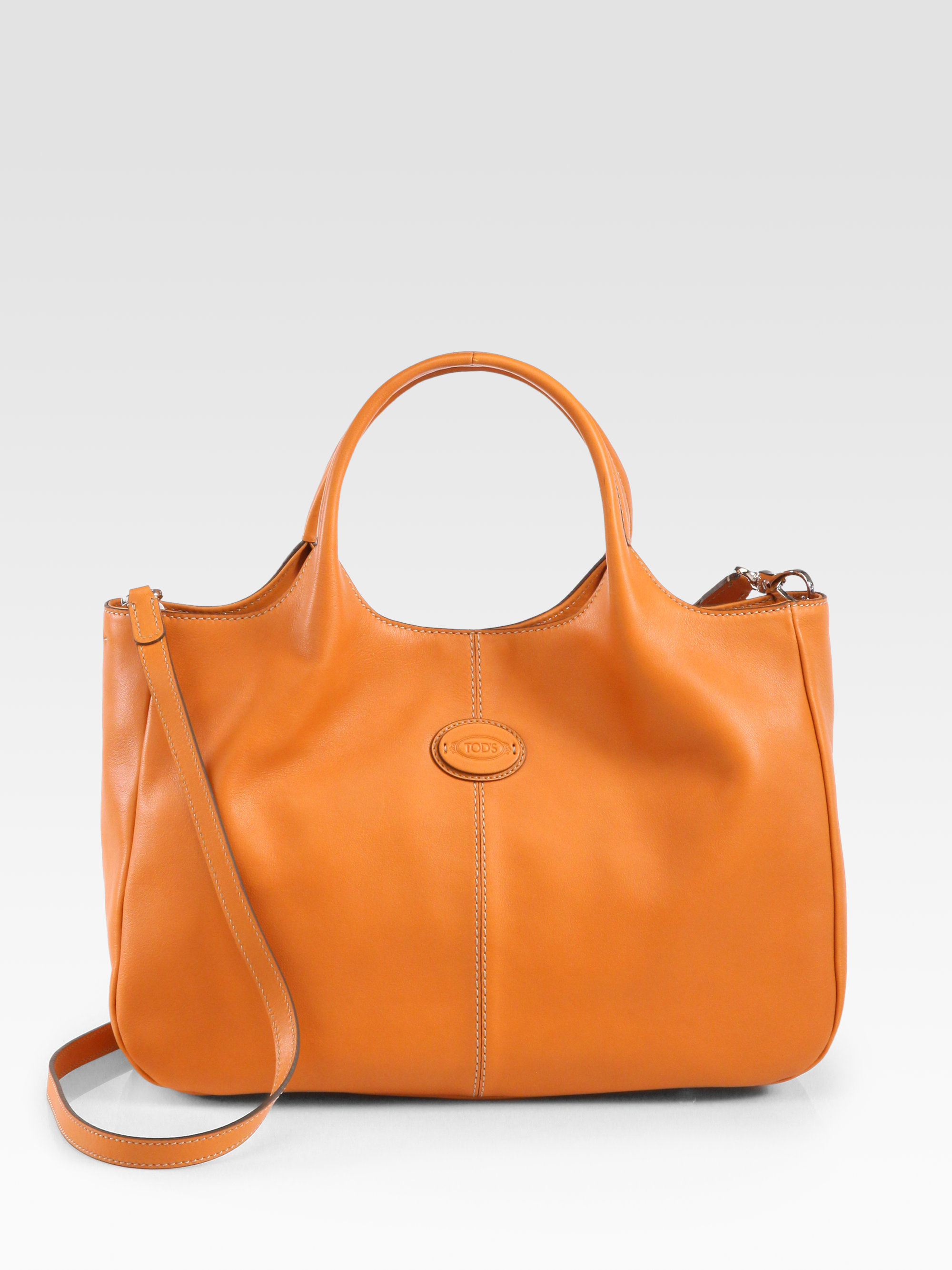 tod s small shopping bag in orange lyst