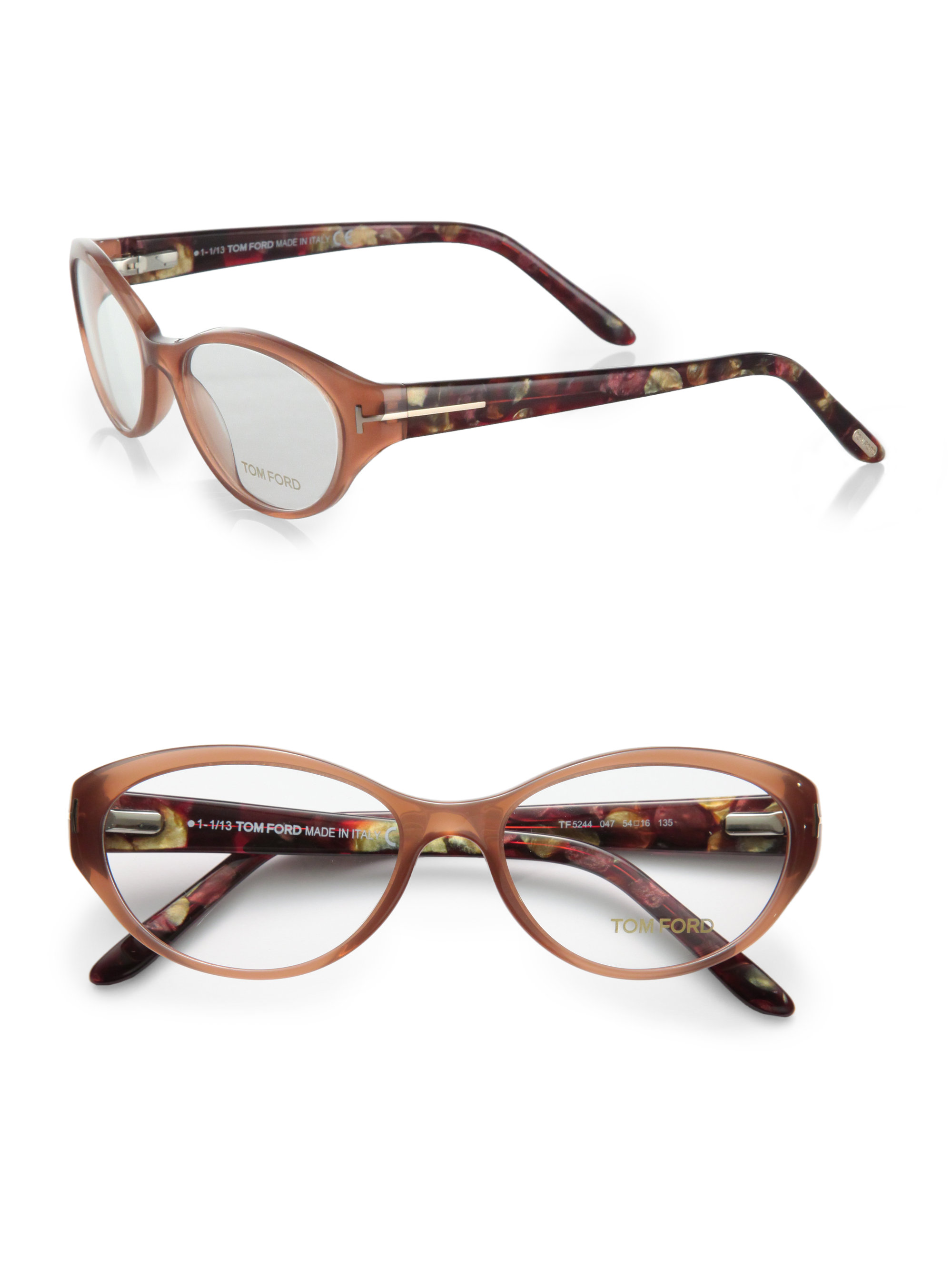 b6ecc96185c4 Lyst - Tom Ford Oval Reading Glasses in Brown