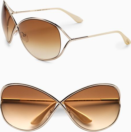 tom ford miranda oversized round sunglasses in gold shiny rose gold. Cars Review. Best American Auto & Cars Review