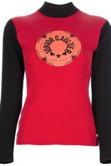 Jean Paul Gaultier Polo Neck Logo Top - Lyst