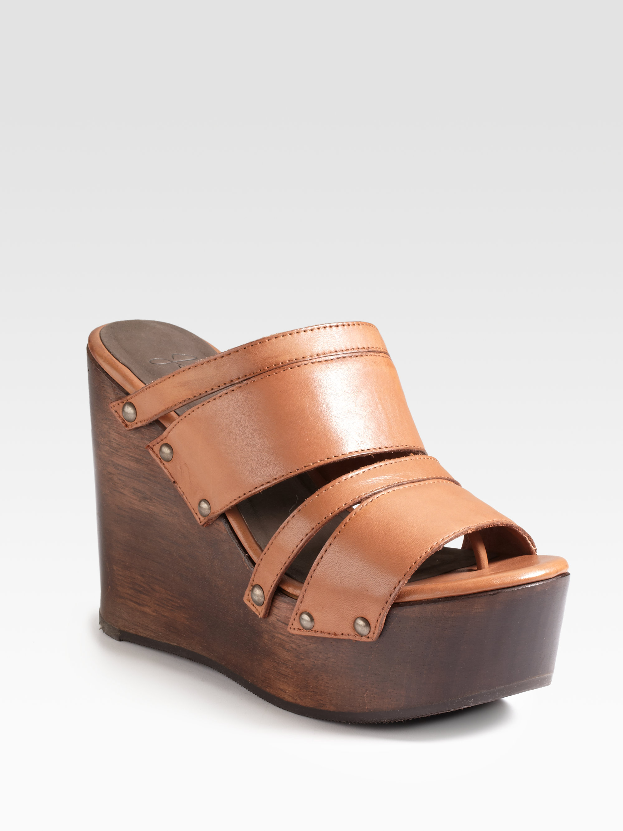 c1b53fe6e14 Lyst - Joie Womack Wooden Platform Wedge Sandals in Brown