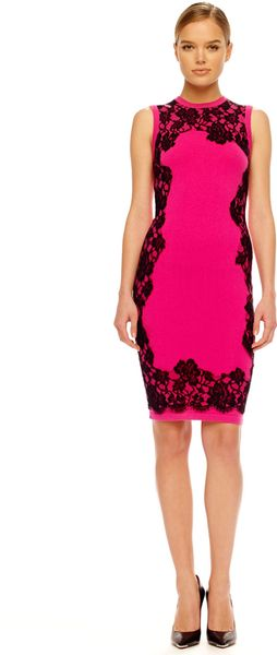 Michael Kors Laceprint Cashmere Dress - Lyst