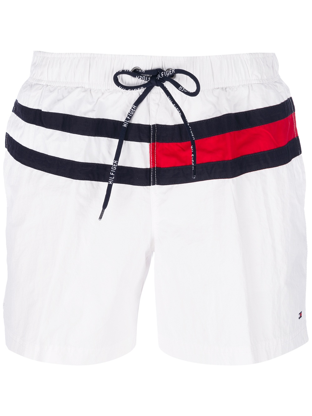 6b1cd673 Tommy Hilfiger Flag Swim Shorts in White for Men - Lyst
