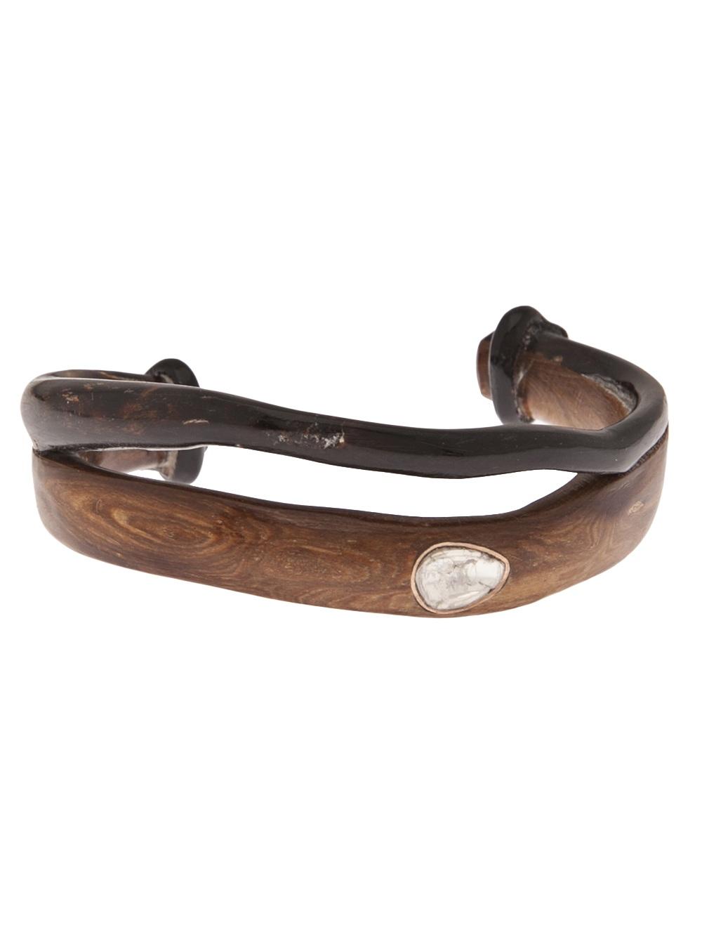 Lyst Dezso By Sara Beltran Coral Dia Bracelet In Brown