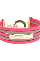Marc By Marc Jacobs Wide Bicolour Bracelet - Lyst