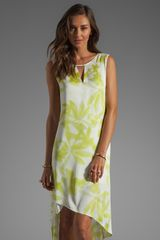 BCBGMAXAZRIA Hilow Dress in Gardenialight Lime - Lyst