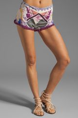 Camilla Moments in Eternity Frill Hem Shorts in Violet Eyes - Lyst