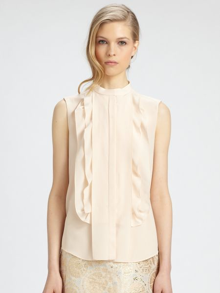 Silk Ruffle Sleeveless Blouse 121
