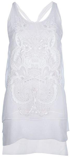 Emilio Pucci Tiger Embroidered Vest Top - Lyst