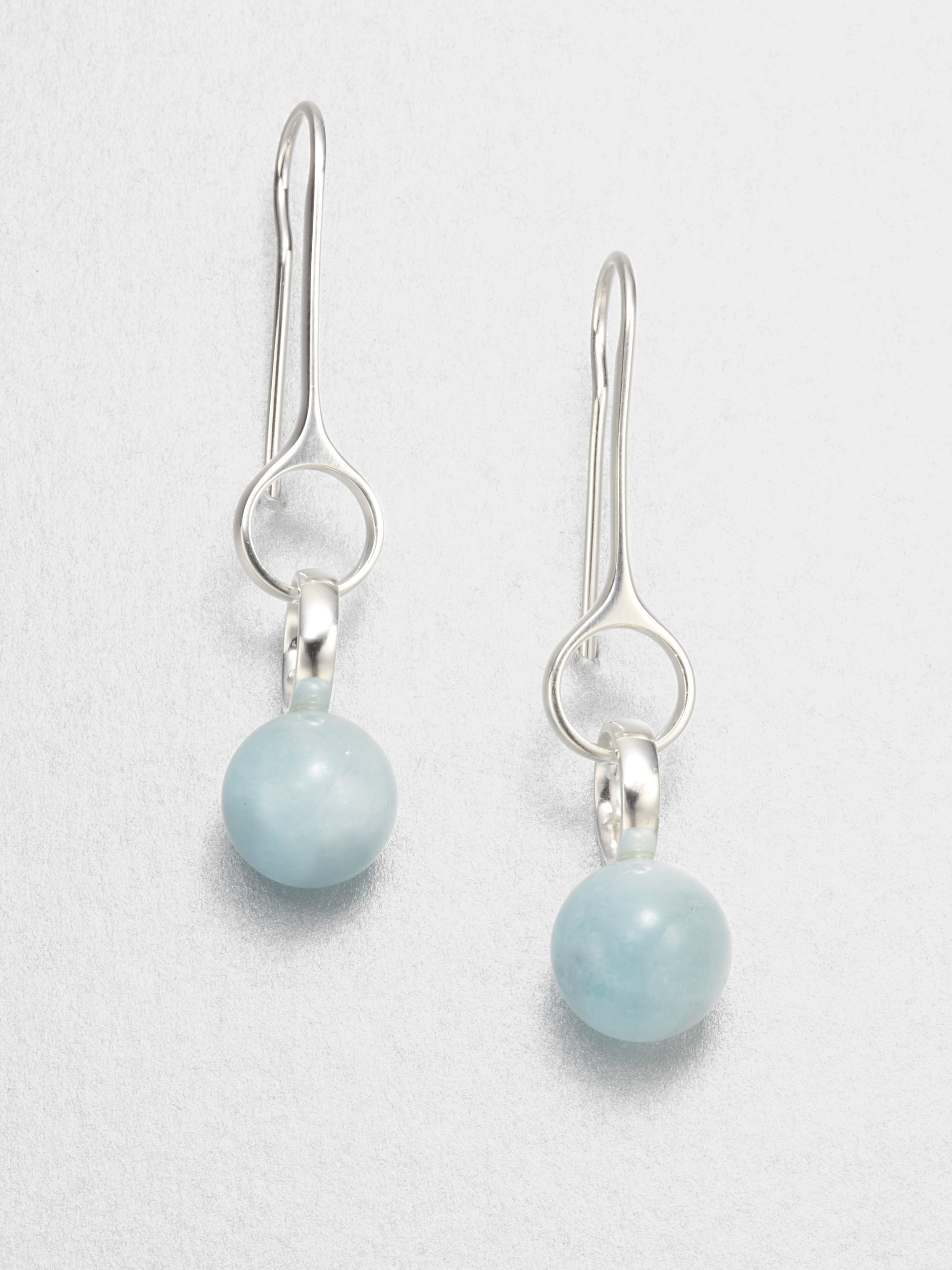 Lyst Georg Jensen Aquamarine And Sterling Silver