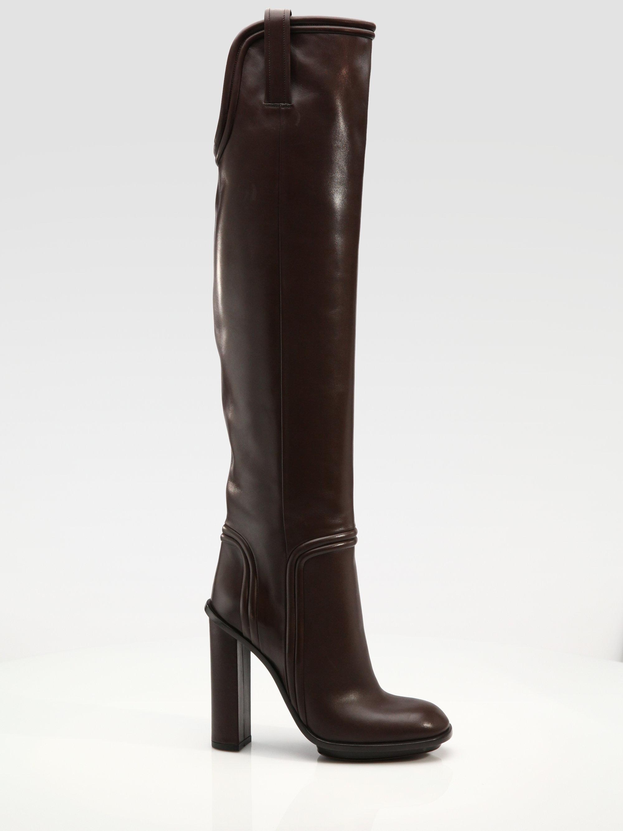 4caa0c901 Gucci Trish Highheel Platform Boots in Black - Lyst