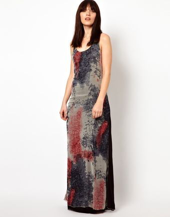 Improvd Scarlett Chiffon Maxi Dress with Racer Back - Lyst