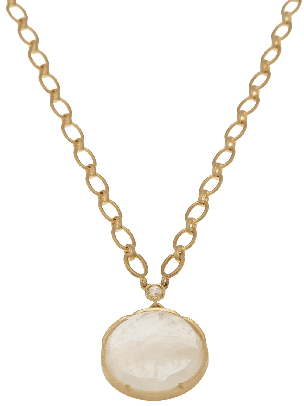 irene neuwirth 18k gold moonstone and pendant in
