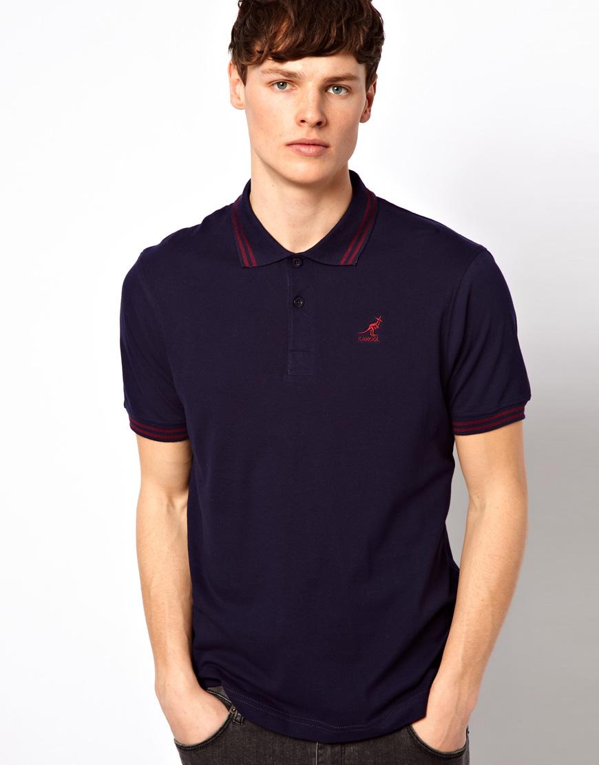 9531a207 Kangol Polo Shirt in Blue for Men - Lyst