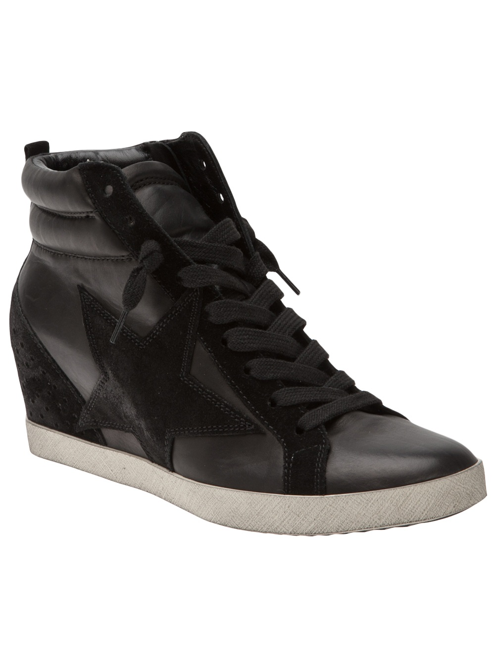 kennel schmenger metro leather wedge sneakers in black lyst. Black Bedroom Furniture Sets. Home Design Ideas