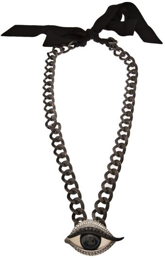 Lanvin Rhinestone Eye Necklace - Lyst