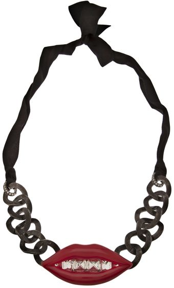 Lanvin Metal Chain with Lips - Lyst
