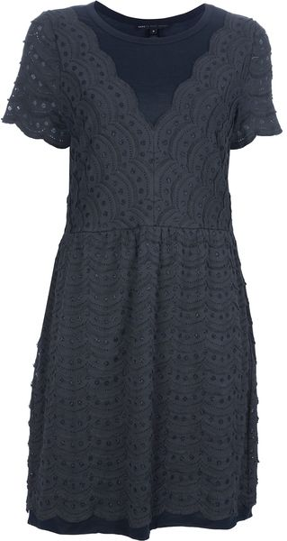 Marc By Marc Jacobs Embroidered Dress - Lyst
