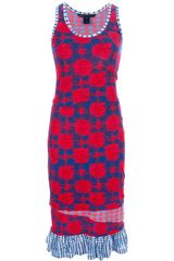 Marc By Marc Jacobs Check Mix Sleeveless Dress - Lyst