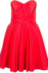 McQ by Alexander McQueen Pleated Strapless Dress - Lyst