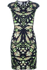 McQ by Alexander McQueen Interlock Butterfly Camouflage Dress - Lyst