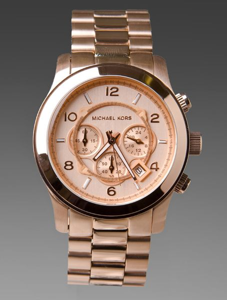 michael kors watch in rose gold in gold metallic gold lyst. Black Bedroom Furniture Sets. Home Design Ideas