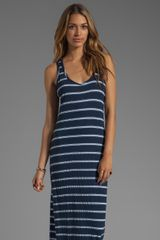 Michael Stars Sleeveless Scoop Neck Striped Maxi in Ship - Lyst