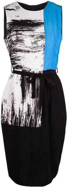 Obakki Paint Print Dress - Lyst