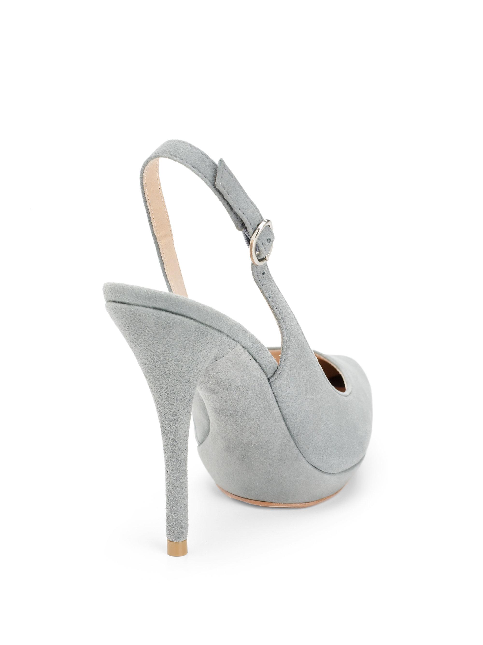 da2c999b4687 Lyst - Pour La Victoire Divina Suede Slingback Pumps in Gray