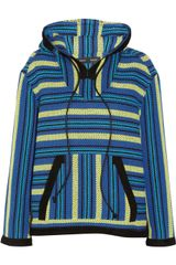 Proenza Schouler Baja Suedetrimmed Striped Tweed Jacket - Lyst