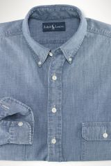 Big & Tall Classic-fit Chambray Shirt - Lyst