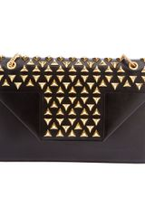Saint Laurent Studded Shoulder Bag - Lyst