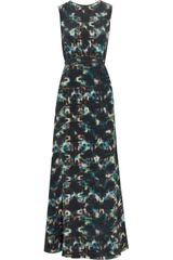 Saloni Printed Silk Maxi Dress - Lyst