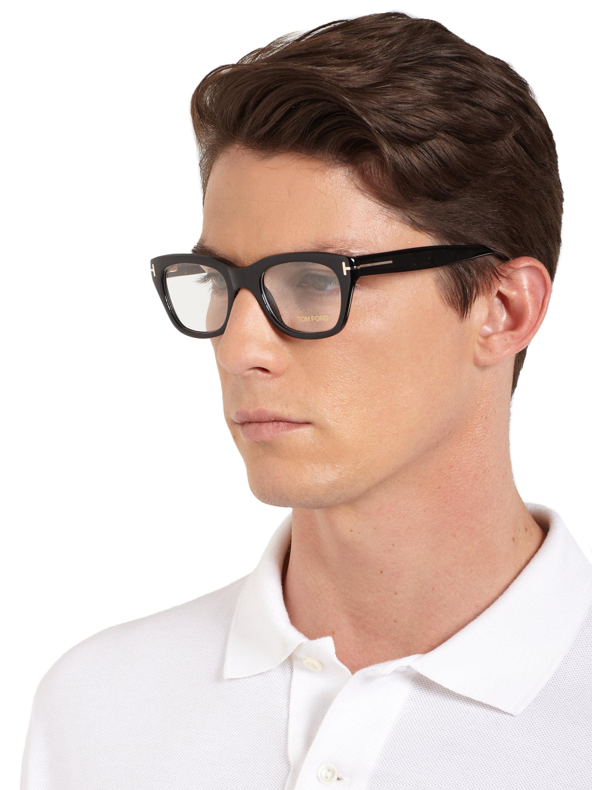 Lyst Tom Ford 5178 Square Optical Frames In Black For Men