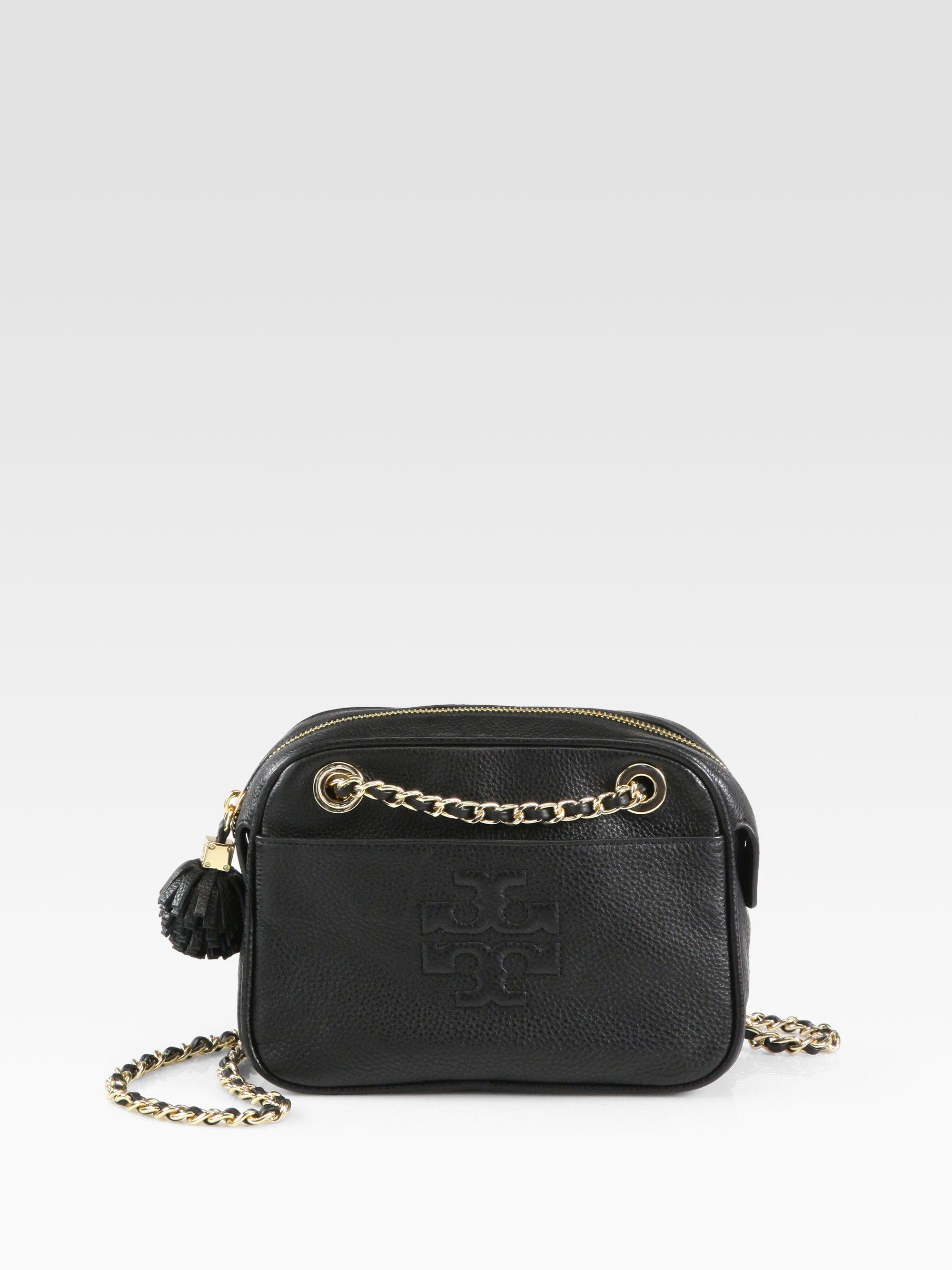 e28914a286d Tory Burch Thea Crossbody Chain Bag in Black - Lyst