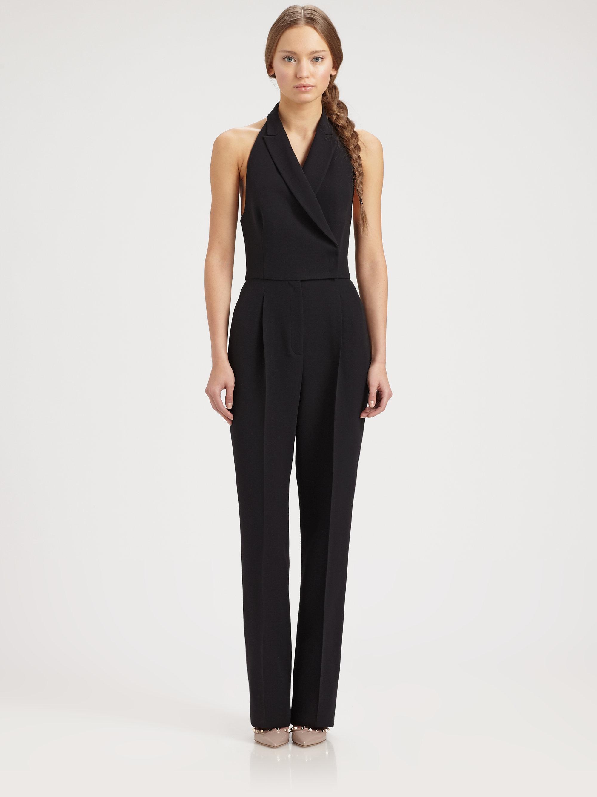Lyst Valentino Tuxedo Jumpsuit In Black