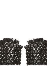 Alexander McQueen Honeycomb Lace Fingerless Gloves - Lyst